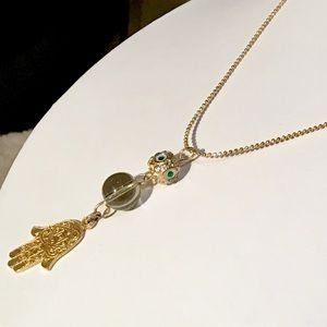 🌺Artisan Gold Hamsa Necklace